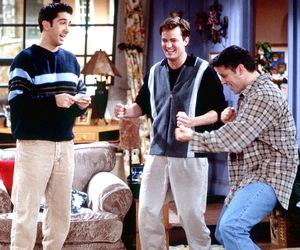 joey tribbiani, ross geller, and friends image