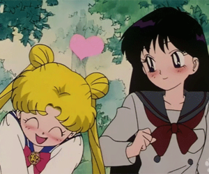 friends and sailormoon image