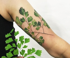 ink, nature, and tattoo image