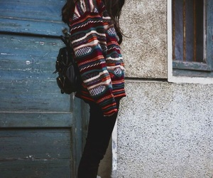 girl, sweater, and grunge image