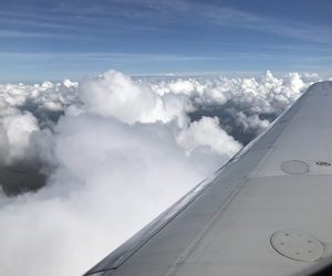 beautiful, clouds, and plane image
