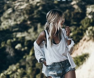 girl, jeans, and white image