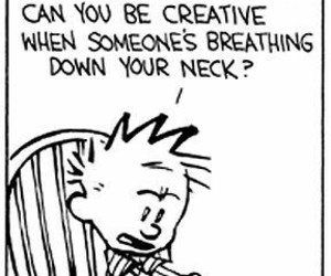 calvin and hobbes, college, and grades image