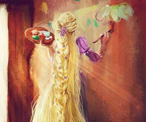 disney, rapunzel, and art image