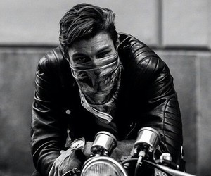 boy, black, and motorcycle image