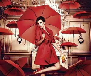 red, penelope cruz, and umbrella image