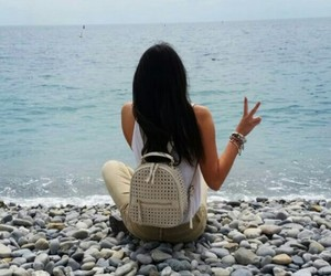 beach, happiness, and france image