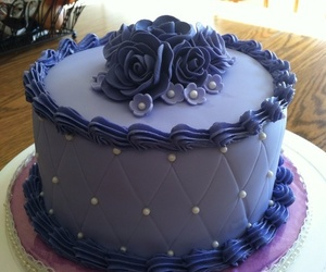 cake, flooring, and purple image