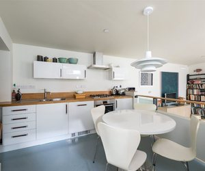 apartment, house, and kitchen image