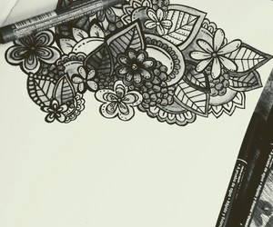 doodle art and zentangle art image