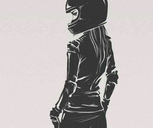 girl, motorcycle, and love motorcycle image