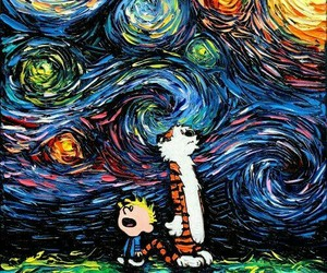 Calvin & Hobbes, comic, and painting image