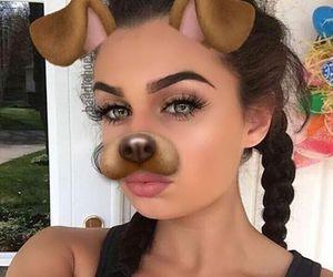 beauty, eyebrow, and snap image
