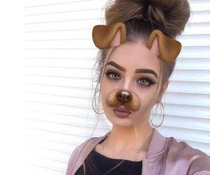 beauty, brown hair, and eyebrow image