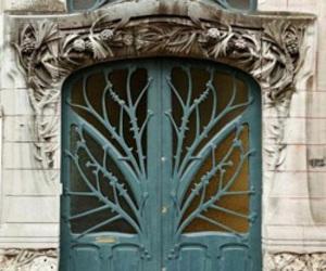 door, architecture, and Art Nouveau image