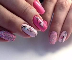 fashion, nails art, and makeup image