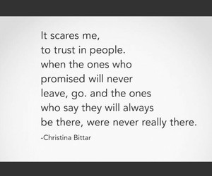 quote, scared, and trust image