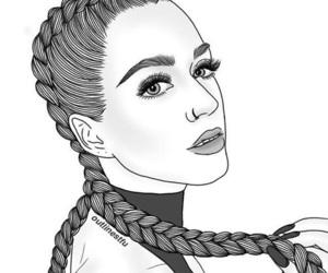 girl, art, and braid image