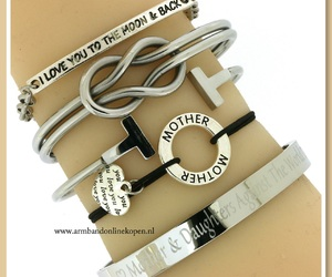 double infinity, mother daughter bracelet, and quote armbanden image