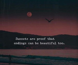 sunset, quotes, and beautiful image