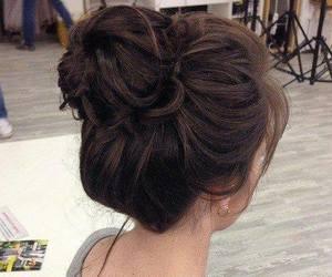 beautiful, hair, and hair bun image