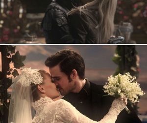 once upon a time, wedding, and true love image