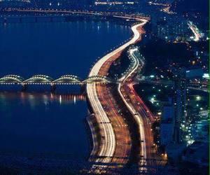 korea and han river image