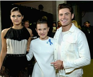 eleven, zack efron, and millie bobby image