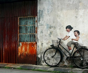 street art, art, and bike image