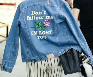 fashion, denim, and jacket image