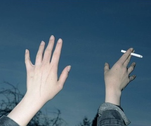 grunge, cigarette, and pale image
