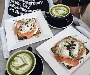 food, healthy, and coffee image