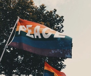 peace, flag, and lgbt image