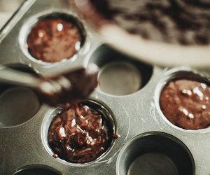 baking, brownie, and chocolate image