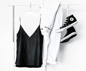 fashion, converse, and black image