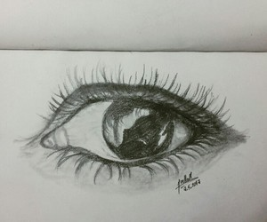 aesthetic, black and white, and drawing image