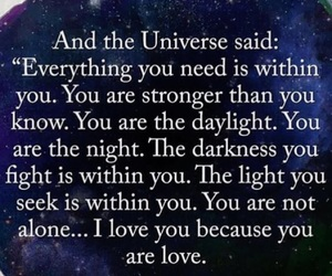 light, love, and universe image
