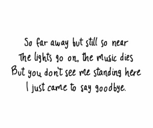 away, lights, and Lyrics image