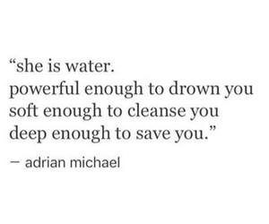 quote, water, and deep image