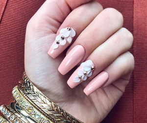 nails, bracelet, and fashion image