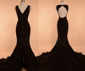 black, evening dress, and pageant image