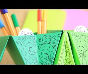 origami, tutorial, and organizador image