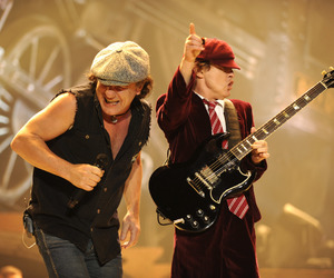 ACDC, angusyoung, and brianjohnson image