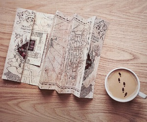 harry potter, book, and marauders map image