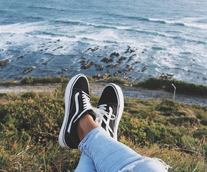 beach, jeans, and style image