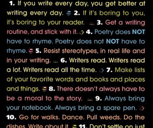list, poetry, and read image