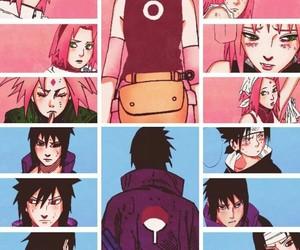 naruto, sasusaku, and sasuke uchiha image