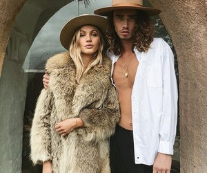 couple, style, and woman image