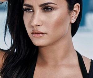 beautiful, demi lovato, and makeup image