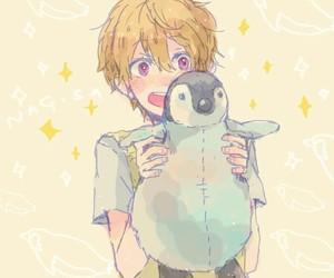 anime, kawaii, and penguin image